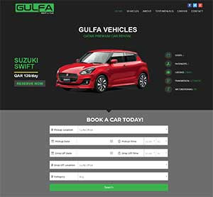 Rent a Car Website Design